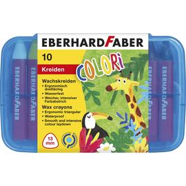 Wachsmalkreiden dreiflächig in Kunststoffbox sortiert wasserfest Eberhard Faber 524011 (ETUI=8+2 STÜCK) Produktbild