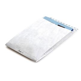 Faltentasche TYVEK ohne Fenster B5 176x250x38mm mit Haftklebung 55g weiß Spitzboden (PACK=100 STÜCK) Produktbild