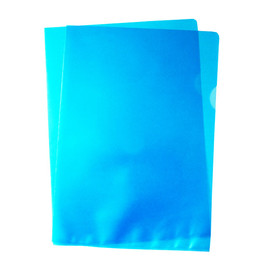 Sichthüllen oben + rechts offen A4 120µ blau PP 00517312 (PACK=100 STÜCK) Produktbild