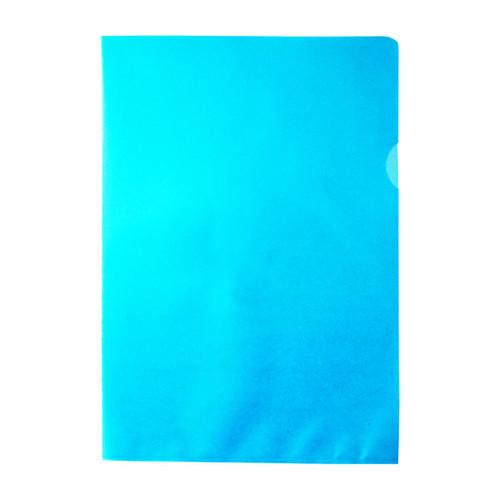 Sichthüllen oben + rechts offen A4 120µ blau PP 00517312 (PACK=100 STÜCK) Produktbild Additional View 2 L