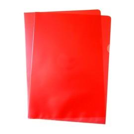 Sichthüllen oben + rechts offen A4 120µ rot PP 00517322 (PACK=100 STÜCK) Produktbild