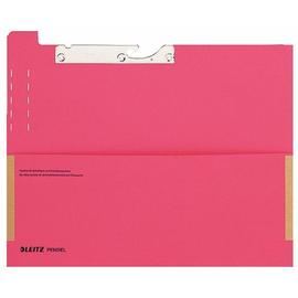 Pendelfehltasche mit Schlitzstanzung und Tasche 320g rot Manila-Karton Leitz 2029-00-25 Produktbild