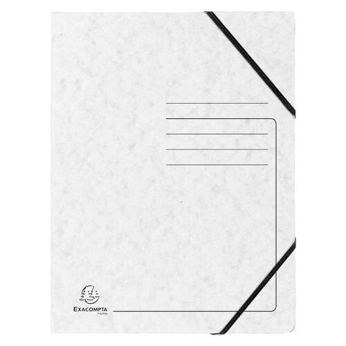 Eckspanner A4 GZ weiß mit Gummizug Karton Exacompta 555406E (PACK=5 STÜCK) Produktbild