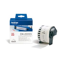 Endlosetikettenrolle 50mmx30,48m weiß Papier Brother DK-22223 (PACK=30,48 METER) Produktbild