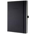 Notizbuch CONCEPTUM Softwave kariert A4+ 225x315mm 194Seiten schwarz Hardcover Sigel CO115 Produktbild