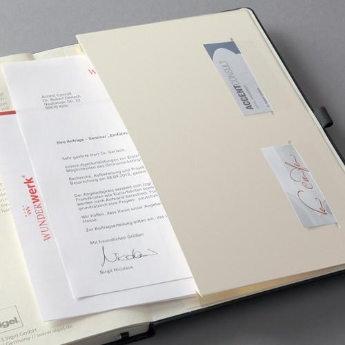 Notizbuch CONCEPTUM Softwave kariert A4+ 225x315mm 194Seiten schwarz Hardcover Sigel CO115 Produktbild Additional View 2 L