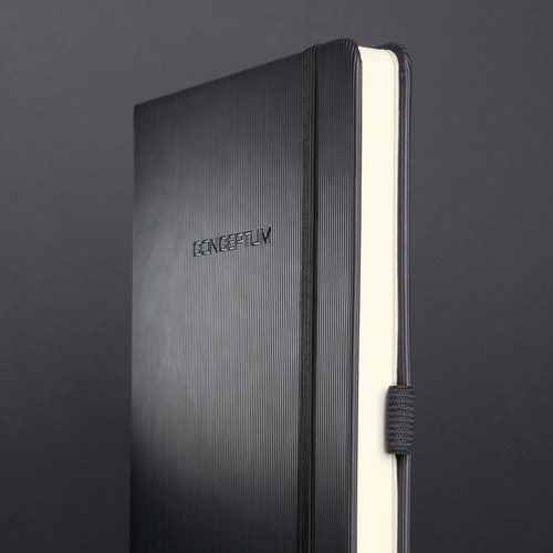 Notizbuch CONCEPTUM Softwave kariert A4+ 225x315mm 194Seiten schwarz Hardcover Sigel CO115 Produktbild Additional View 7 L