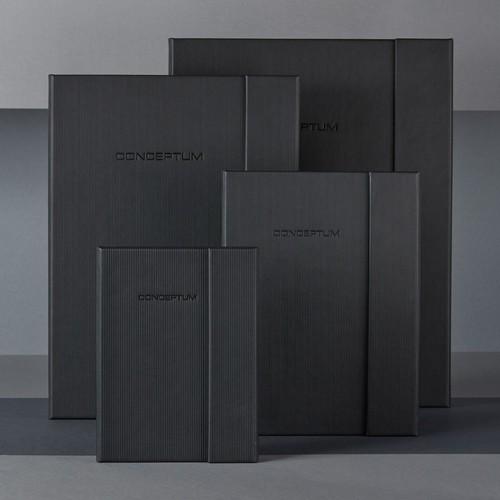 Notizbuch CONCEPTUM Softwave mit Magnetverschluss liniert A4+ 245x315mm 194Seiten schwarz Hardcover SIgel CO142 Produktbild Additional View 8 L