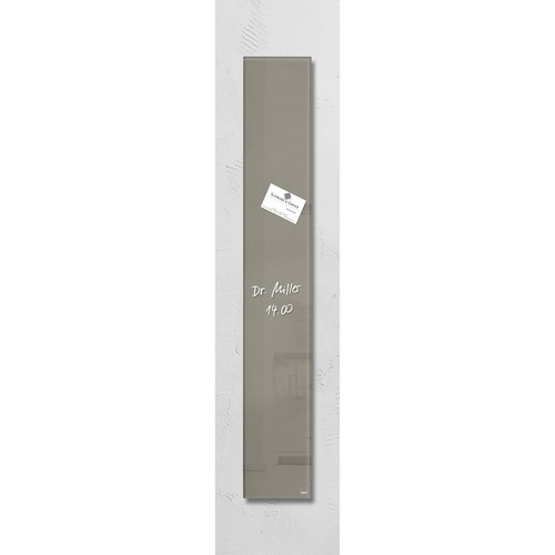 Glas-Magnetboard artverum 120x780x15mm taupe inkl. Magnete Sigel GL108 Produktbild