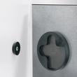 Glas-Magnetboard artverum 300x300x15mm schwarz inkl. Magnete Sigel GL157 Produktbild Additional View 1 S