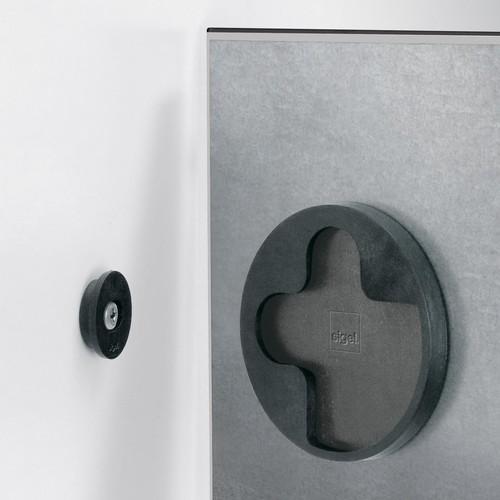 Glas-Magnetboard artverum 300x300x15mm schwarz inkl. Magnete Sigel GL157 Produktbild Additional View 1 L
