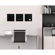 Glas-Magnetboard artverum 300x300x15mm schwarz inkl. Magnete Sigel GL157 Produktbild Additional View 6 S