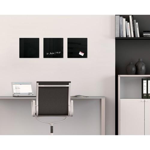 Glas-Magnetboard artverum 300x300x15mm schwarz inkl. Magnete Sigel GL157 Produktbild Additional View 6 L