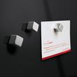 Glas-Magnetboard artverum 300x300x15mm schwarz inkl. Magnete Sigel GL157 Produktbild Additional View 4 S