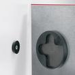 Glas-Magnetboard artverum 300x300x15mm rot inkl. Magnete Sigel GL159 Produktbild Additional View 1 S