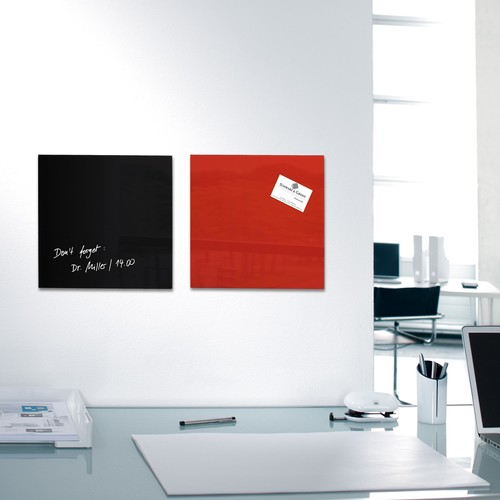 Glas-Magnetboard artverum 300x300x15mm rot inkl. Magnete Sigel GL159 Produktbild Additional View 6 L
