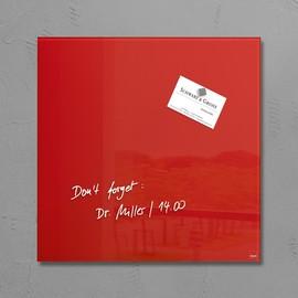 Glas-Magnetboard artverum 300x300x15mm rot inkl. Magnete Sigel GL159 Produktbild