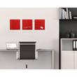 Glas-Magnetboard artverum 300x300x15mm rot inkl. Magnete Sigel GL159 Produktbild Additional View 7 S