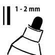 Kreidemarker 20 artverum 1-2mm Rundspitze schwarz abwischbar Sigel GL177 (PACK=2 STÜCK) Produktbild Additional View 5 S