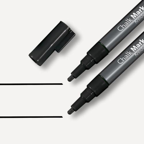 Kreidemarker 20 artverum 1-2mm Rundspitze schwarz abwischbar Sigel GL177 (PACK=2 STÜCK) Produktbild Additional View 1 L