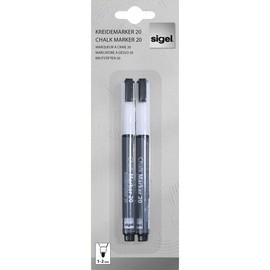Kreidemarker 20 artverum 1-2mm Rundspitze weiß abwischbar Sigel GL178 (PACK=2 STÜCK) Produktbild