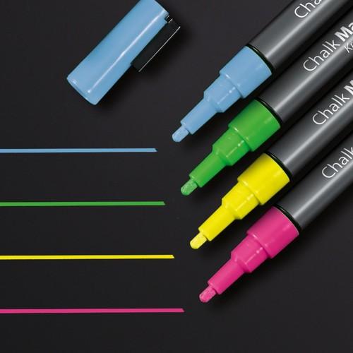 Kreidemarker 20 artverum 1-2mm Rundspitze pink/gelb/grün/blau abwisch- bar und fluoreszierend Sigel GL179 (PACK=4 STÜCK) Produktbild Additional View 1 L