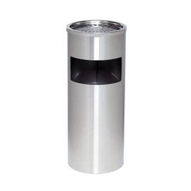 Standascher mit Abfallsammler ø 25cm Höhe 61cm silber Stahlblech Alco 2940-36 Produktbild