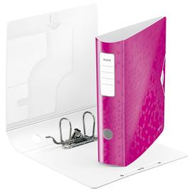 Ordner 180° Active WOW A4 80mm pink metallic Kunststoff Leitz 1106-00-23 Produktbild