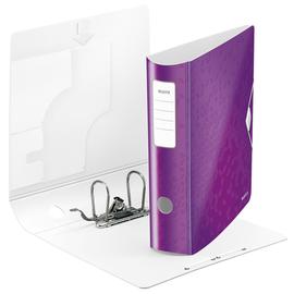 Ordner 180° Active WOW A4 80mm violett metallic Kunststoff Leitz 1106-00-62 Produktbild