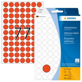 Markierungspunkte 13mm ø rot Herma 2232 (PACK=2464 STÜCK) Produktbild