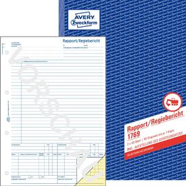 Rapport/ Regiebericht A4 hoch 2x40Blatt selbstdurchschreibend Zweckform 1769 Produktbild