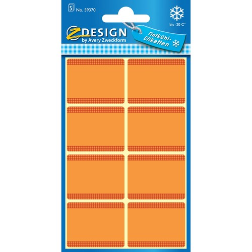 Tiefkühl-Etiketten 36x28mm orange Zweckform 59370 (BTL=40 STÜCK) Produktbild