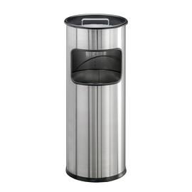 Standascher mit Abfallsammler 2l + 17l metallic silber Edelstahl Durable 3373-23 Produktbild