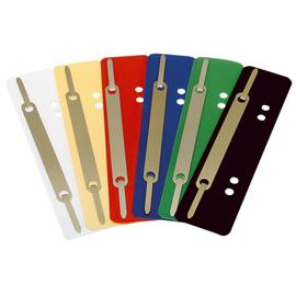 Einhänge-Heftstreifen kurz mit Metall-Deckschiene 34x150mm dunkelblau PP Soennecken 03184 (PACK=25 STÜCK) Produktbild