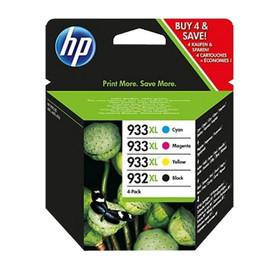 Druckkopfpatrone 932XL/933XL Multipack für HP OfficeJet 6700 22,5ml schwarz + je 8,5ml cyan+magenta+yellow HP C2P42AE (ST=4 STÜCK) Produktbild