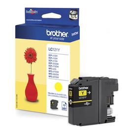 Tintenpatrone für DCP-J152/MFC-J245 3,9ml yellow Brother LC-121Y Produktbild