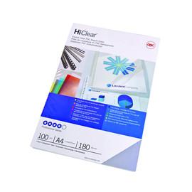 Einbanddeckel HiClear A4 150µ transparent kristallklar GBC CE011580E (PACK=100 STÜCK) Produktbild