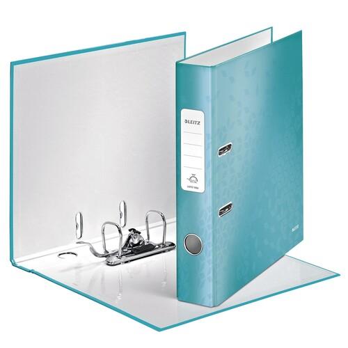 Ordner 180° WOW A4 50mm eisblau metallic PP Leitz 1006-00-51 Produktbild