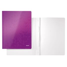 Schnellhefter WOW A4 violett metallic PP-laminierter Karton Leitz 3001-00-62 Produktbild