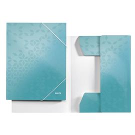 Eckspanner WOW A4 für 250Blatt eisblau metallic PP-laminierter Karton Leitz 3982-00-51 Produktbild