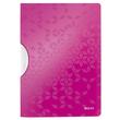 Klemmmappe WOW ColorClip A4 bis 30Blatt pink metallic PP Leitz 4185-00-23 Produktbild