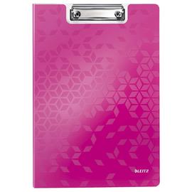 Klemmmappe WOW mit Deckel und Tasche A4 bis 75Blatt pink metallic Polyfoam Leitz 4199-00-23 Produktbild