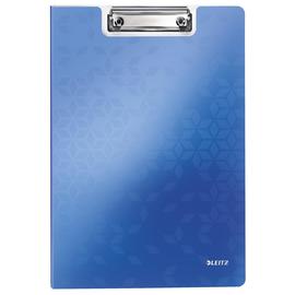 Klemmmappe WOW mit Deckel und Tasche A4 bis 75Blatt blau metallic Polyfoam Leitz 4199-00-36 Produktbild