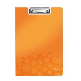 Klemmmappe WOW mit Deckel und Tasche A4 bis 75Blatt orange metallic Polyfoam Leitz 4199-00-44 Produktbild