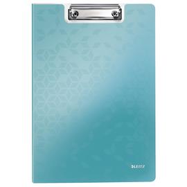 Klemmmappe WOW mit Deckel und Tasche A4 bis 75Blatt eisblau metallic Polyfoam Leitz 4199-00-51 Produktbild