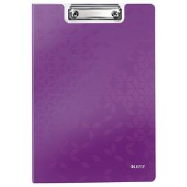 Klemmmappe WOW mit Deckel und Tasche A4 bis 75Blatt violett metallic Polyfoam Leitz 4199-00-62 Produktbild