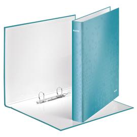 Ringbuch WOW A4 Überbreite 2Ringe Ringe-Ø25mm bis 250Blatt eisblau metallic Graupappe Leitz 4241-00-51 Produktbild