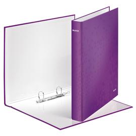 Ringbuch WOW A4 Überbreite 2Ringe Ringe-Ø25mm bis 250Blatt violett metallic Graupappe Leitz 4241-00-62 Produktbild