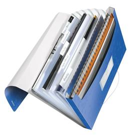 Projektmappe WOW mit Gummizug A4 mit 6 Fächern blau metallic PP Leitz 4589-00-36 Produktbild
