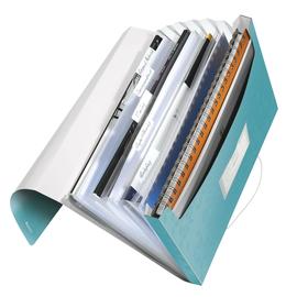 Projektmappe WOW mit Gummizug A4 mit 6 Fächern eisblau metallic PP Leitz 4589-00-51 Produktbild